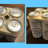 SAY NO TO PLASTIC - USE ECO-FRIENDLY Nc6 SIX-PACK CAN HOLDERS